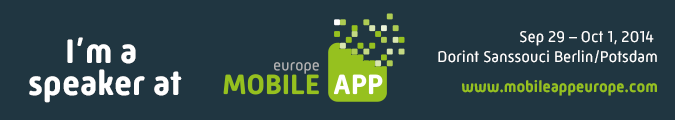 Speaker @ Mobile App Europe