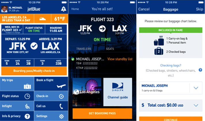 Wearables JetBlue - Adventures in QA