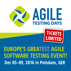 Get your Ticket for the Agile Testing Days 2016 - Adventures in QA