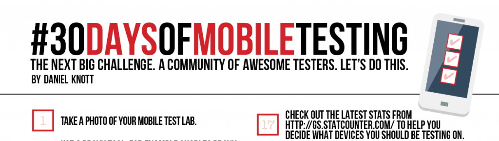 30 days of mobile testing - Adventures in QA