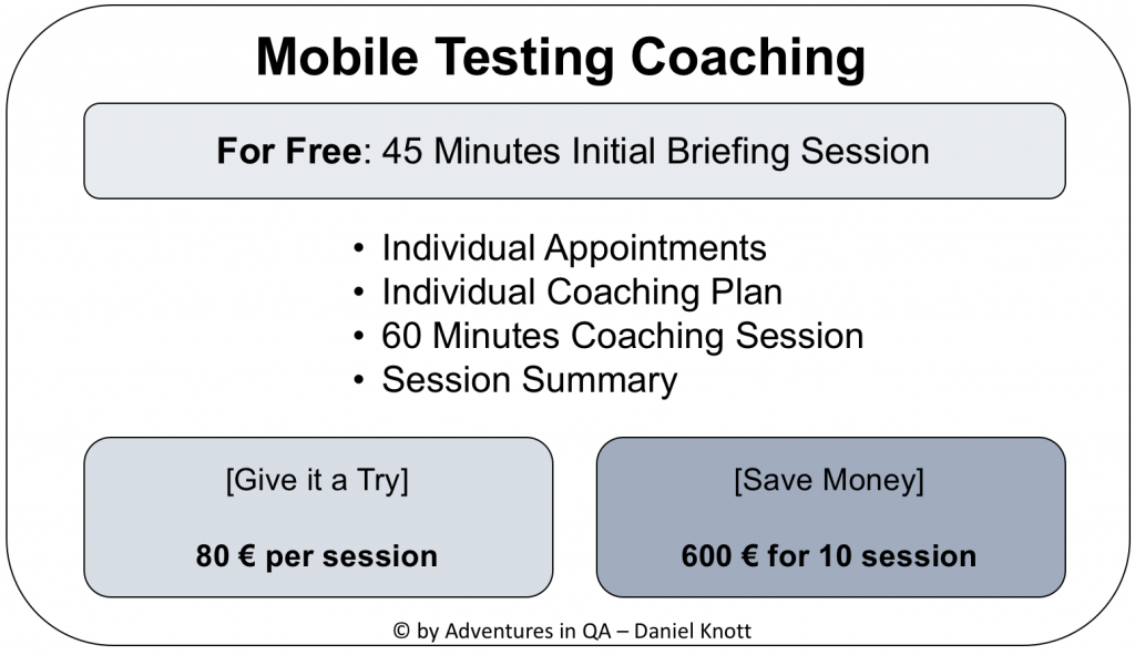 Mobile Testing Skype Coaching Packages - Adventures in QA