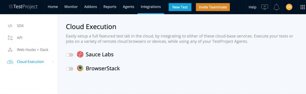 TestProject Cloud_Execution - Adventures in QA